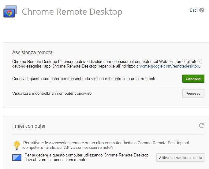 Chrome Remote Desktop iniziare 2