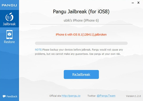 Jailbreak iOS iPhone6