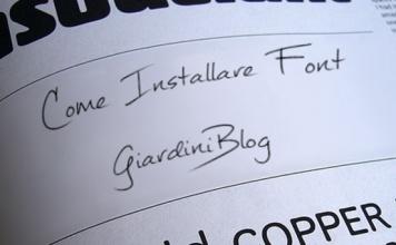 Come installare font
