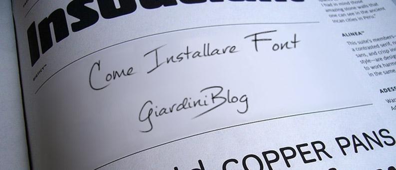 come installare un font