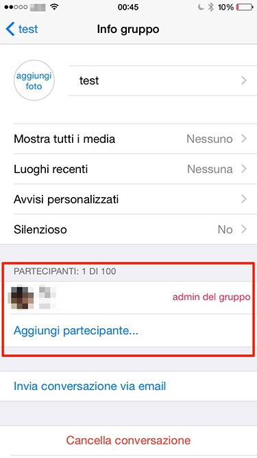 amico ha bloccato su whatsapp