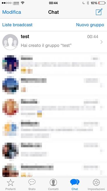 gruppo creato per scoprire chi ti blocca su whatsapp