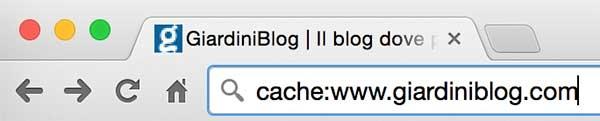cache dei siti web con chrome