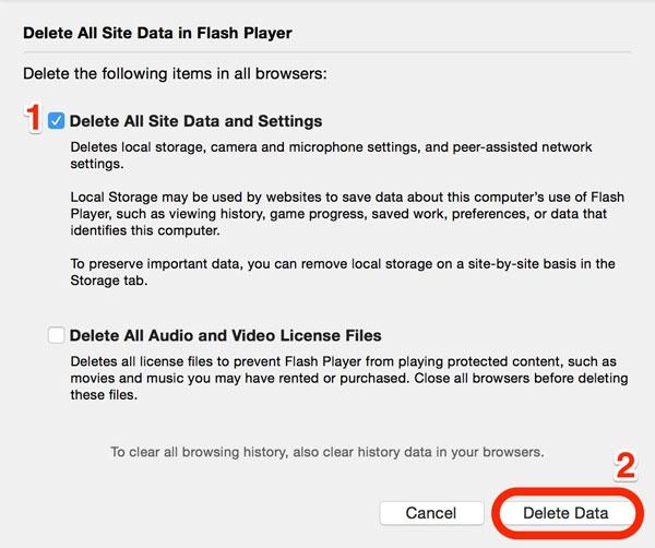 Flash Cookies mac 3