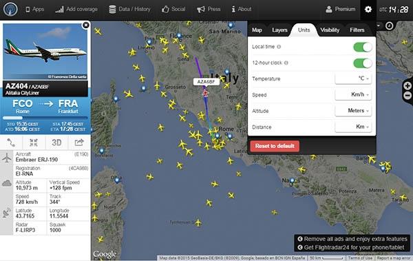 Vedere e Seguire le rotte aeree in tempo reale su Google Maps