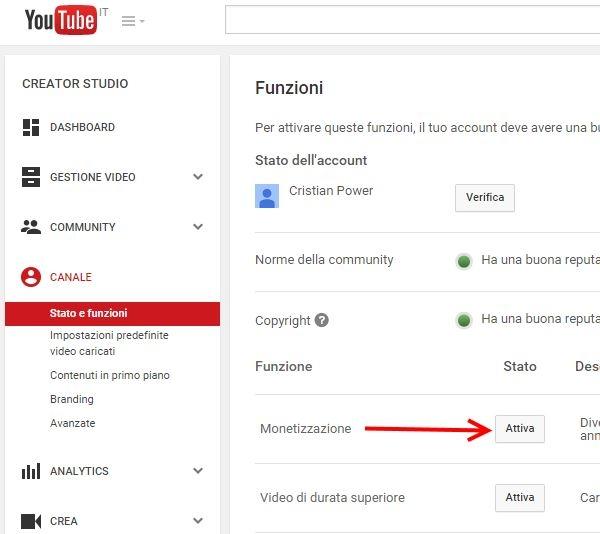 come monetizzare con youtube