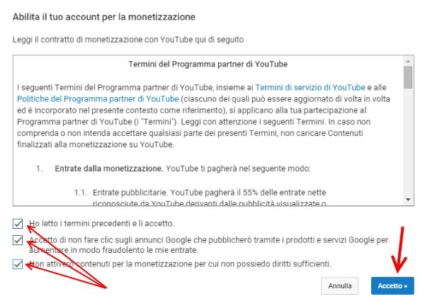 come monetizzare video youtube