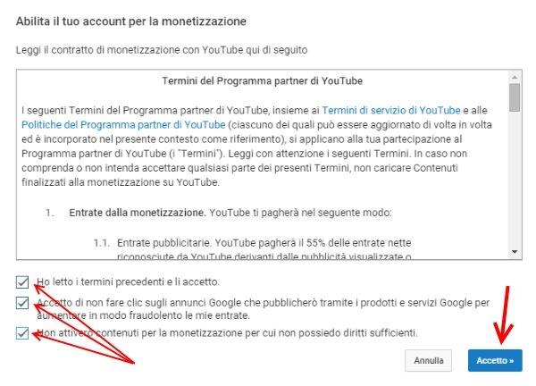 come monetizzare video youtube