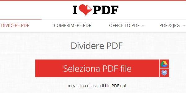 dividere file pdf