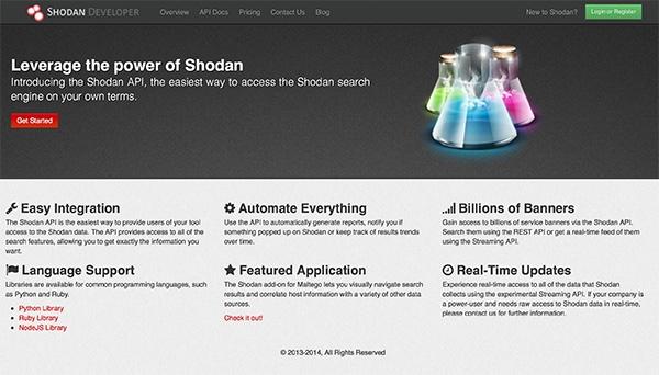 shodan developer