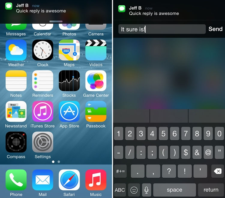 quickreply ios 9