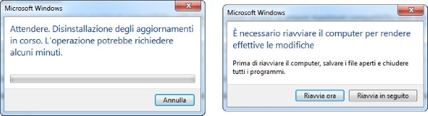 riavviare windows