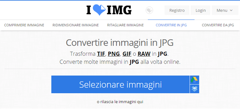 convertire immagini in jpg