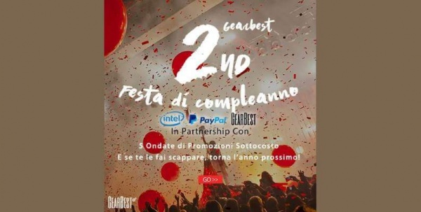 gearbest secondo compleanno
