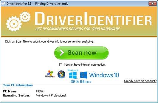aggiornare driver pc driverIdentifier