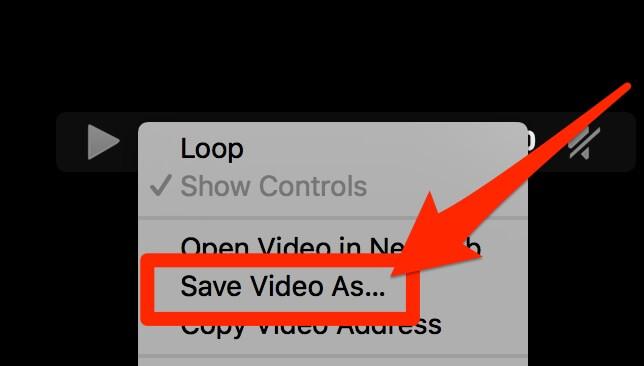 salva video con nome