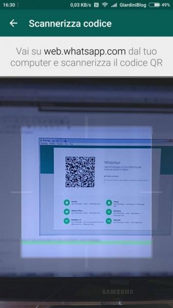 whatsapp app per computer desktop windows e mac codice qr inquadrare