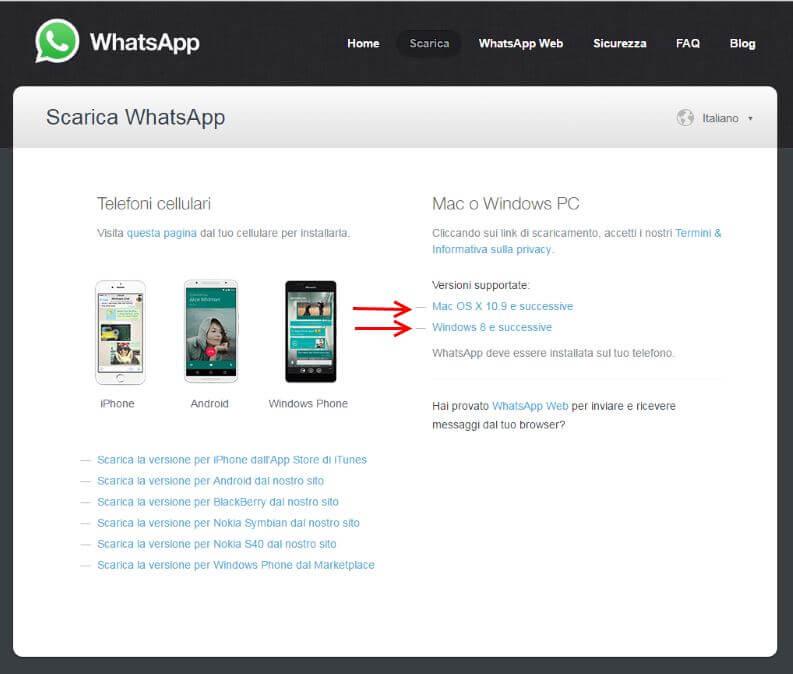 whatsapp app per computer desktop windows e mac