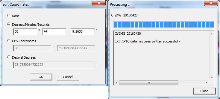 come modificare informazioni delle foto gps