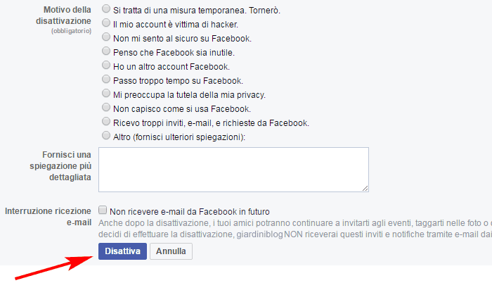 come-eliminare-account-facebook-disattiva