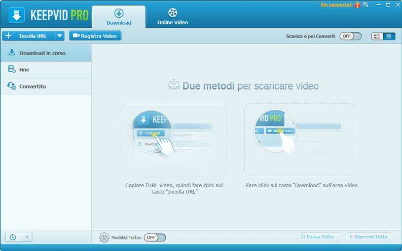 scaricare video da internet keepvid pro