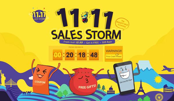 gearbest storm sales 11-11
