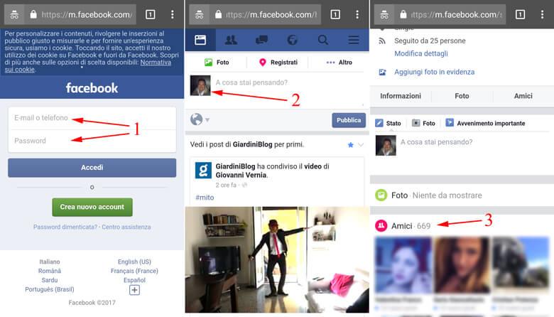 amici iphone lista nascondere facebook