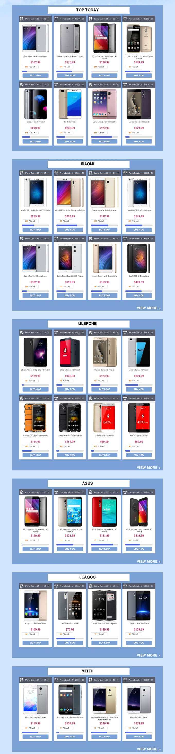 Top Today prodotti 3° compleanno Gearbest