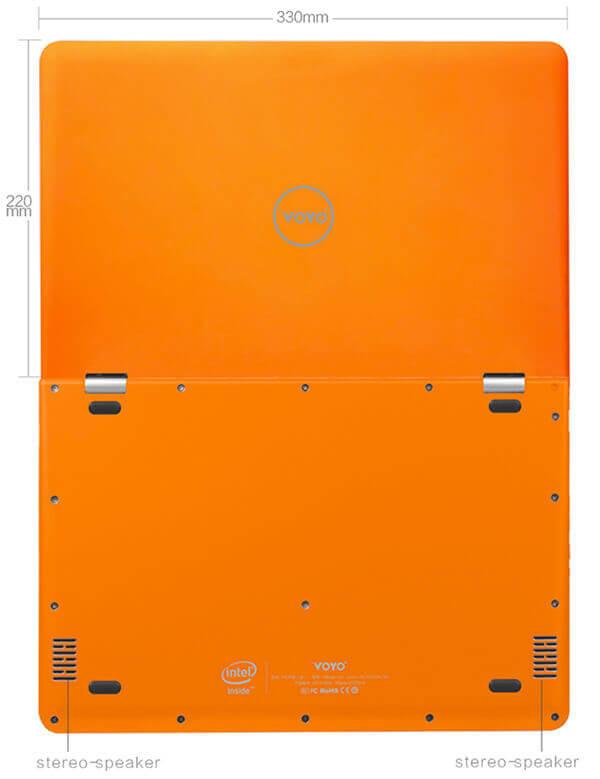 Recensione Voyo VBook V3 Apollo Lake dimensioni