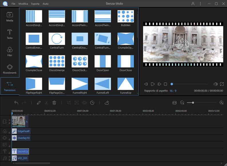 creare e modificare video con ApowerEdit progetto video