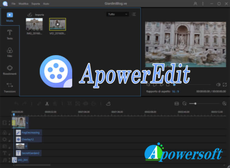 creare e modificare video con ApowerEdit