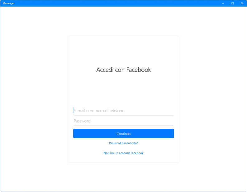 facebook messenger per le chiamate