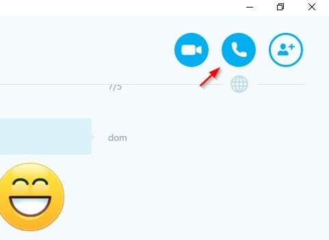 bottone skype per chiamare gratis dal pc