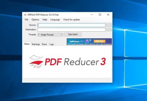 ridurre le dimensioni di un pdf con PDF Reducer 3