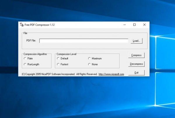 Free PDF Compressor per la compressione di pdf