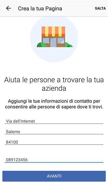 Aiuta le persona a trovare la tua azienda su facebook