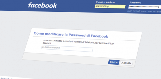 modificare password di facebook