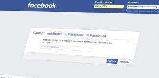modificare password di facebook