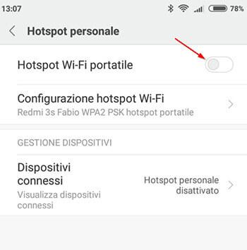 come condividere la connessione internet via wifi