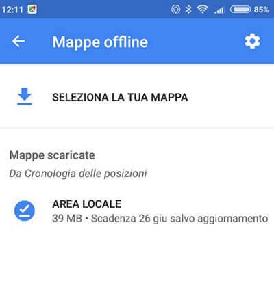 scaricare mappa offline google maps