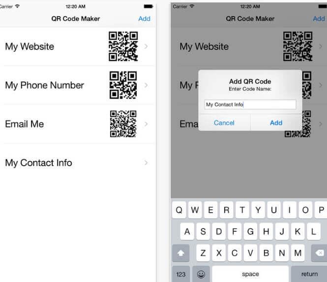 Generare QR code su iOS