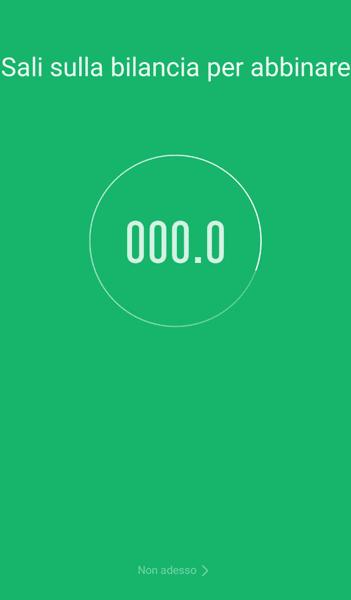 sincronizzazione smartphone con bilancia xiaomi