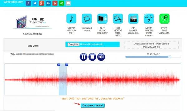 Tagliare una canzone online 15
