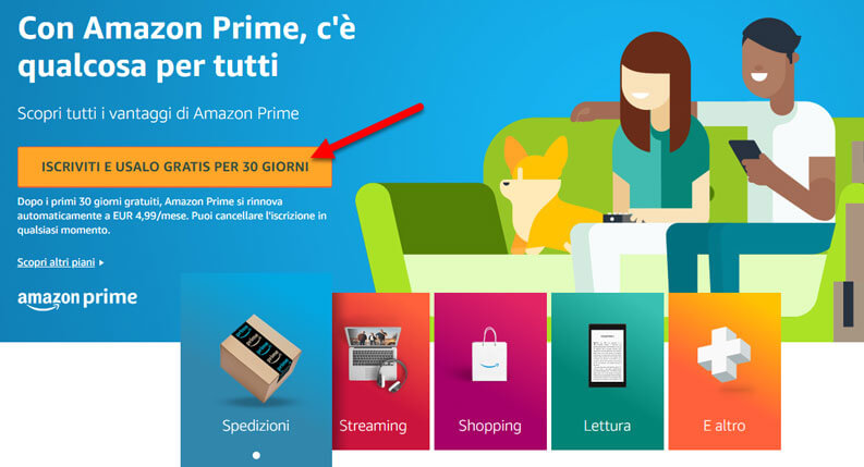 come iscriversi ad amazon prime