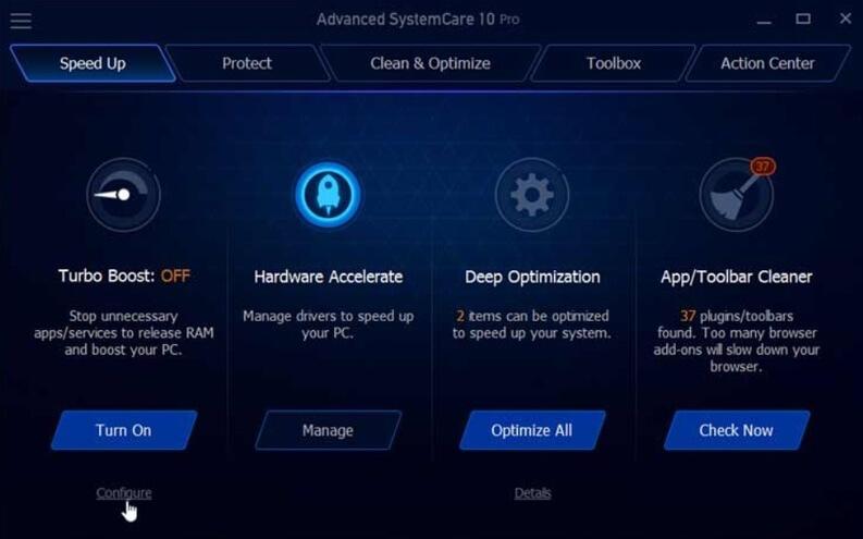 Interfaccia Iobit advanced Systemcare