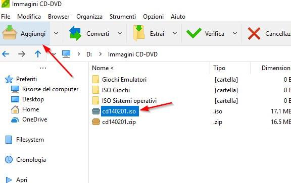peazip compressione file