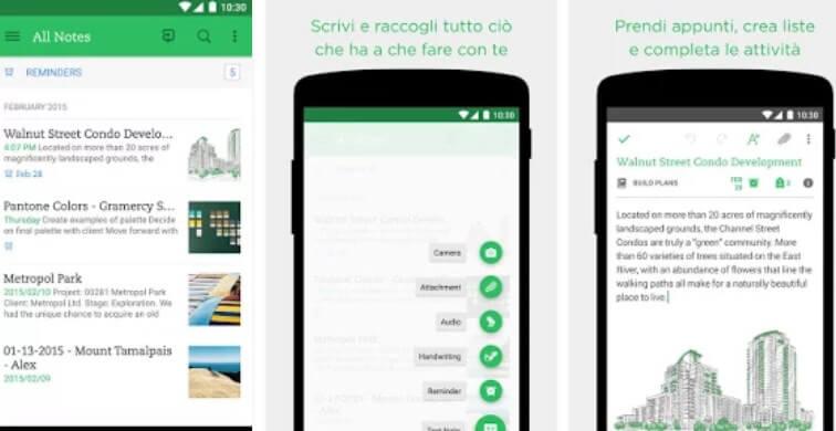 evernote - app per appuntare tutto
