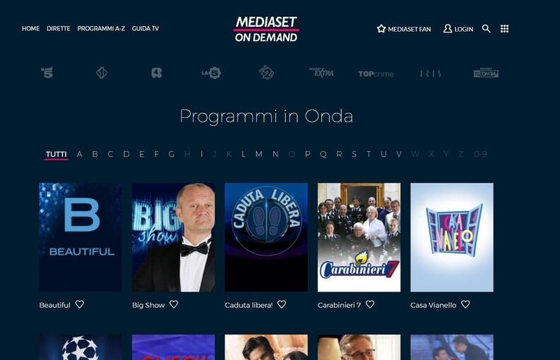 mediaset piattaforma video come youtube