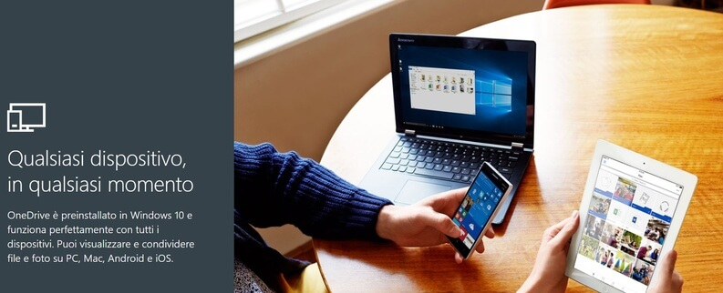 onedrive cloud gratis per PC e Mac