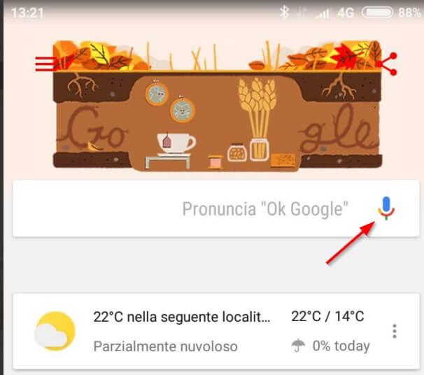 riconoscere brani con google now